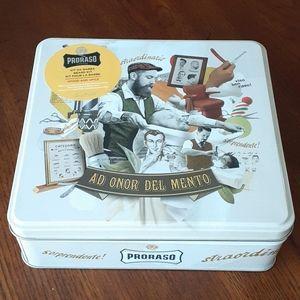 Proraso Beard Kit Oil Balm Wash Gift tin